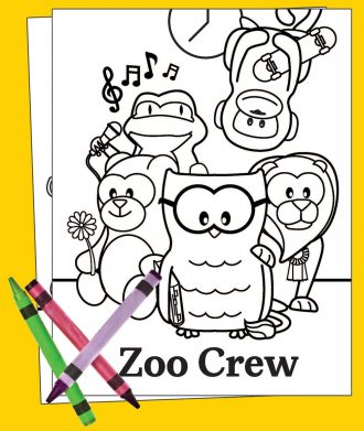 Zoo Crew Coloring Contest